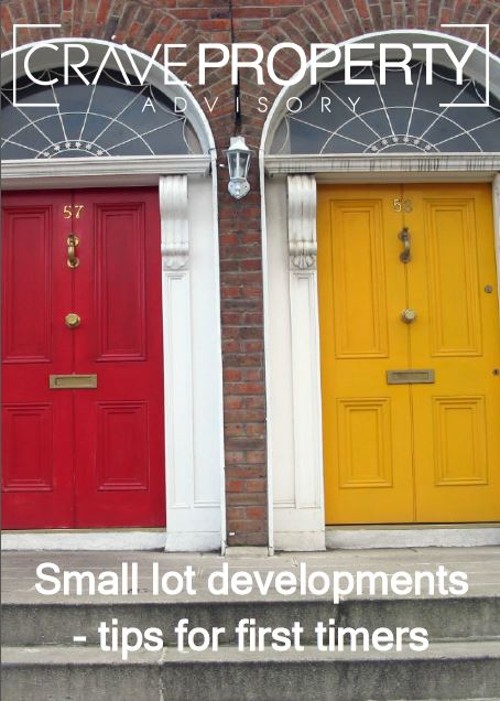 Small lot developments - tips for first timers